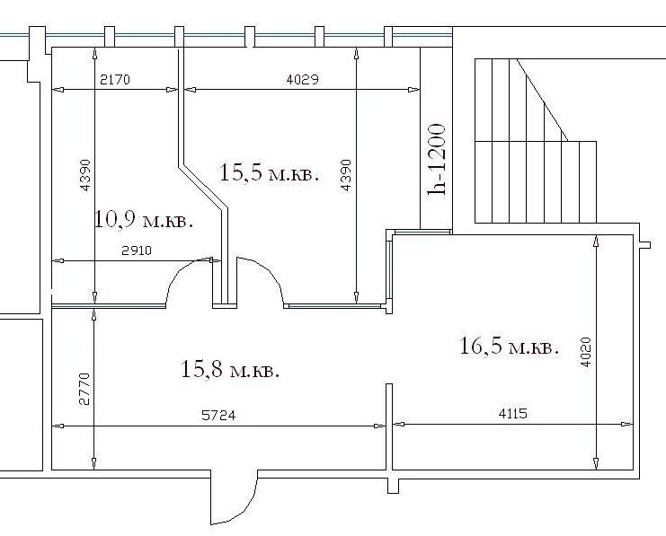 аренда офисной площади 58,4 м2