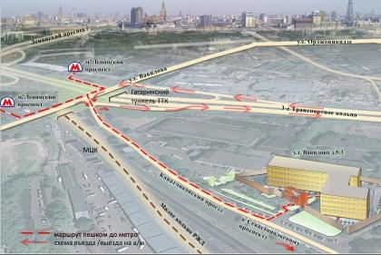 Схема делового центра метро Гагаринская