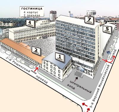 схема БЦ на Шаболовской