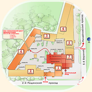план схема бц на Шаболовке