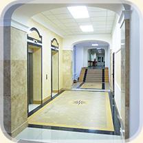 Интерьер административного здания.