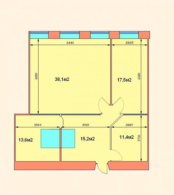 Аренда недвижимости под офис из 4 комнат  95.8 кв.м